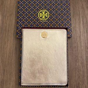 Tory Burch iPad Case   gold